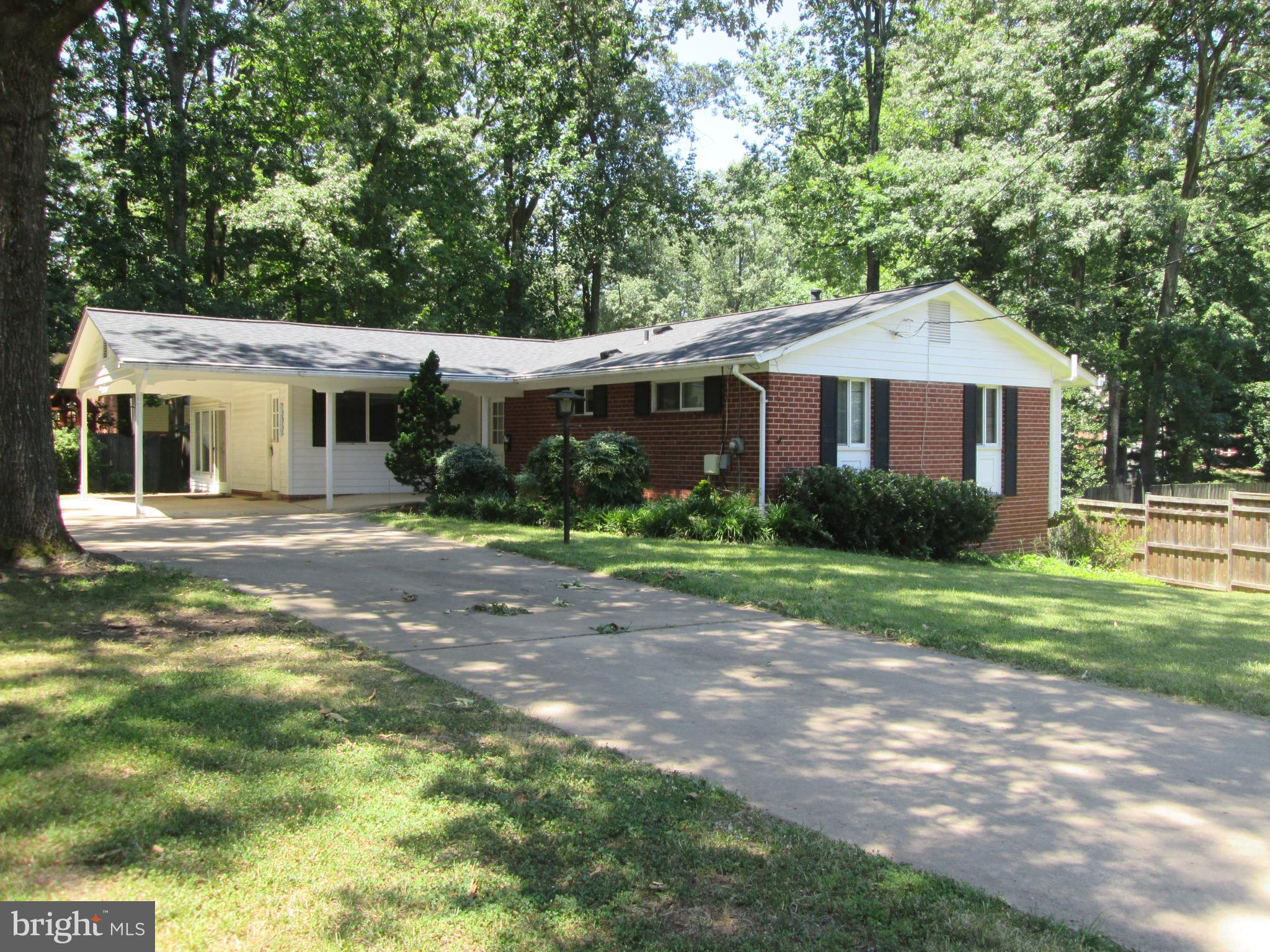 Beautiful rambler with eat-in kitchen, sun room and a fenced back yard. Close to metro, beltway and shopping area. This home is ready for move in and has a fresh coat of paint. New carpet will be installed in the sunroom.
