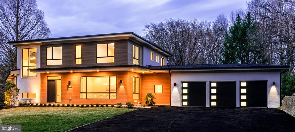 Parade of Homes 2019 Best in Show Winner! New modern design by award-winning AV Architects + Builders. Unique California-style modern floor plan on 1.22 acres in the hearth of McLean! Over 8,700 finished SF on three levels! Large modern windows, LED lighting, pocket doors, custom finished hardwood floors on all three levels. Owner~s Suite on the main level with his/her individual walk-in closets on over 3,800 sqft of finished space. Lots of storage solutions throughout. Full pantry and mudroom off kitchen. Oversized 3-car garage with electric charger. 3 en-suite bedrooms on Upper Level with full Laundry Room. Lower Level has private in-law/nanny suite w/ its own exit door. Lower Level is full walk out access, exercise room and full bath with walk-out door to backyard! Smart home features like speakers, security and sonos system. Property has NO RPA restrictions so a pool or hot tub can be added if desired.