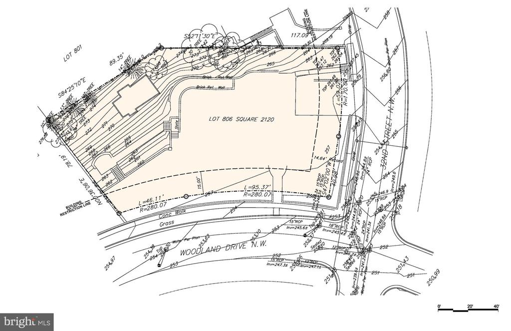 LOT ONLY. Exceptional corner lot for buyer who is interested in building a $5 ~ 6 million home in elegant Mass Avenue Heights.  Architectural sketches shown can convey.