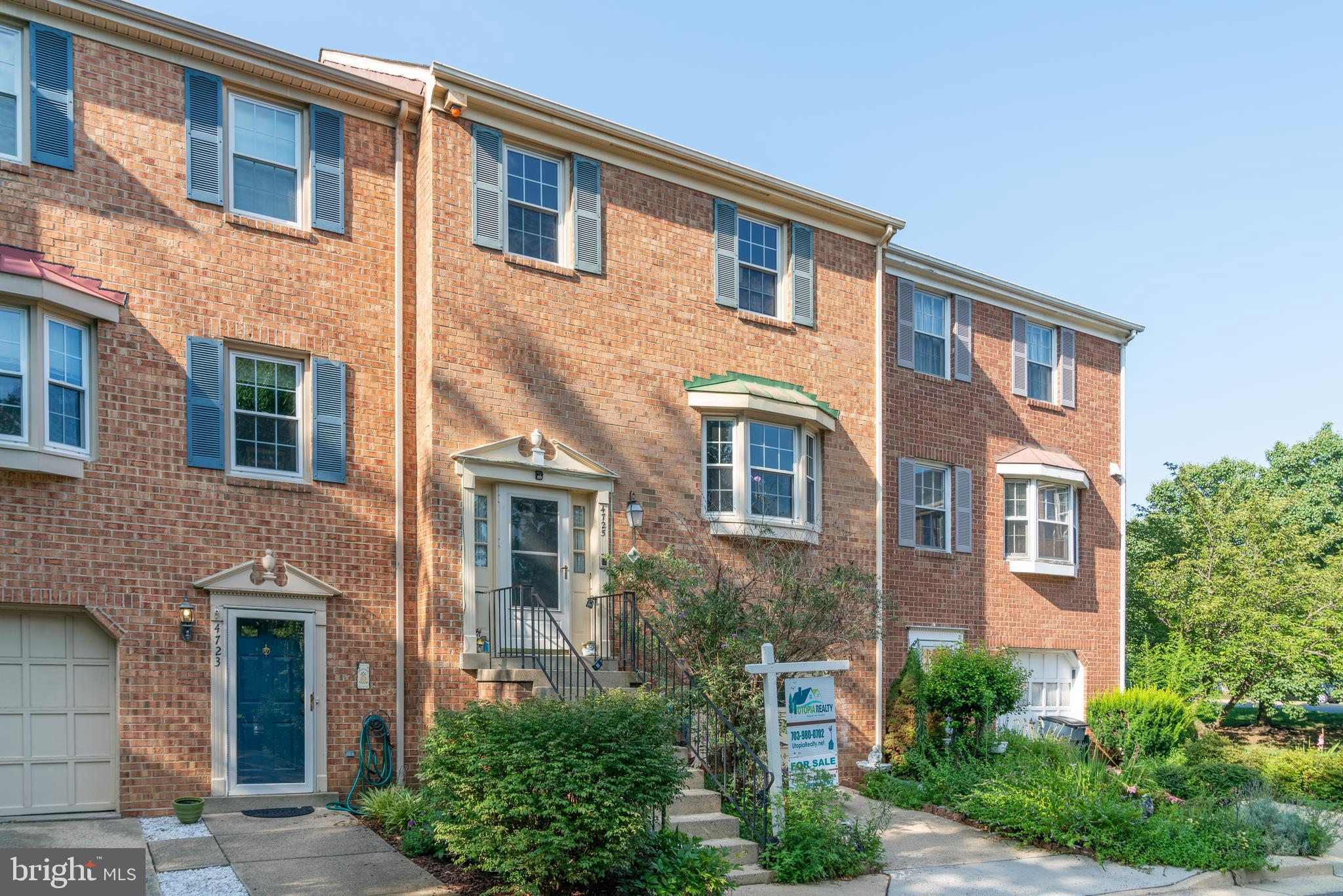 ***price reduced  *** Cozy 3 Level Brick, Townhome, Conveniently located between Alexandria and Annandale; 3 BR/3.5 Baths; Hardwood floor on main level, carpet on upper floor and bedrooms, Eat-in kitchen w/Granite Countertops, Dining Room and Living Room. 2018 Roof, windows changed in 2014, water heater in 2017, HVAC in 2016, W/D 3 years old, 5 fans, Walk-out finished basement and fenced back yard. 1 Car Garage. Close to Rt 236, I-395 and I-495 and  Shopping Centers