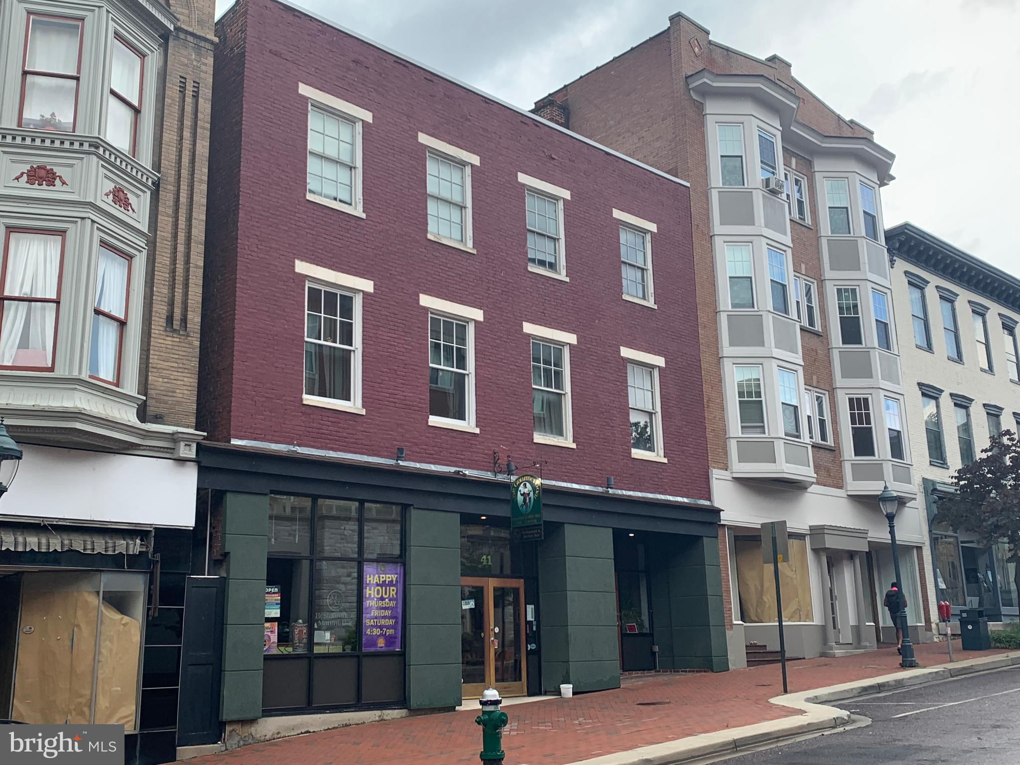 Fantastic opportunity, 4,000 ft~ fully equipped and turn-key restaurant,  ~Gourmet Goat ~  business plus real estate!  Owners are looking to retire and pass this well stablished Restaurant-Bar on to a new owner, in the heart of downtown Hagerstown Arts & Entertainment District, just few steps from the, New University of Maryland, District Court, Barbara Ingram School for the Arts and Anchoring the district is the New Historic Maryland Theatre, art galleries, wonderful restaurants, museums, education centers, retail stores, and more, all at your doorstep. Restaurant is tastefully decorated throughout , You must see it to appreciate the cleanliness and condition of all equipment, in addition, the property offers an upstairs 3,240 ft~  pristine living quarters comprised by three bedrooms and has two full baths and one 1/2 bath. Private parking is available in the rear of the building for approximately 15 vehicles, public parking garage a couple doors down from the building. Potential Buyers must be Pre-qualify on financial ability to purchase and must sign a NDA before any financial information is provided.
