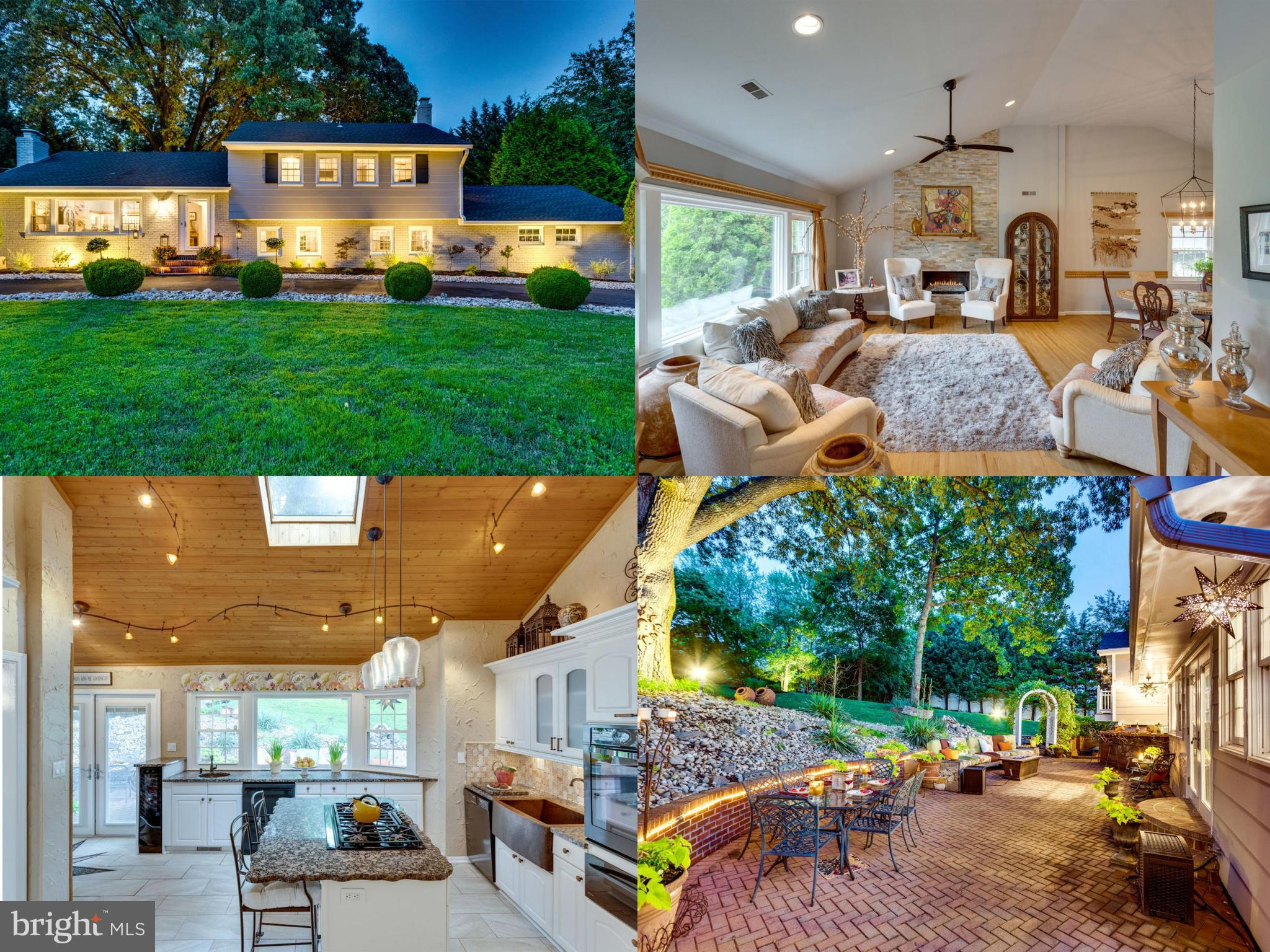 10 miles from Washington DC and 10 miles from Tysons, this stunning well designed 5 bedroom home is situated perfectly for easy access to I-395, Alexandria Old Town historical district, Arlington, Crystal City/National Landing (soon-to-be site of Amazon HQ2) & the Nation's Capital, not to mention being walking distance to one of the best high schools in the country, Thomas Jefferson High School for Science and Technologylocated minutes from 495, 395, easy access to within the wonderful hidden neighborhood of Pinecrest behind Pinecrest Golf Course, close to Green Springs Gardens, Shopping & Restaurants all close by. The back area has a spacious custom built brick patio outfitted with custom seating & an outdoor built-in kitchen/bar area. A huge secluded hot tub is the perfect spot for unwinding after a long day. Beautifully lit up at night the ambiance is wonderful and relaxing, Simply put, this house is INCREDIBLE for entertaining. Inside you will find 5 bedrooms, 3 full baths, an eat-in gourmet kitchen with vaulted ceilings. A wall of windows allows for a perfect view of the gorgeous patio and to the Wisteria covered archway that leads to the amazing backyard. The home features 3 living spaces, a formal living room with huge windows overlooks the expansive front yard of the home. This room has been redesigned to include a raised stacked stone fireplace with a gas insert for easy comfort and warmth. The large formal dining area abuts the living room and allows for plenty of room for entertaining. The second living space has a cozy woodburning fireplace, an updated whitewashed brick wall so you can have the best of both worlds. French doors open up to the backyard for easy access to the hot tub and the outdoor kitchen area. The third living space is a wonderful retreat for guests and company. It is roomy and can host a large sectional and has tons of storage space. The 5th bedroom is off this room allowing for privacy for guests and a nice quiet spot for relaxing. Th