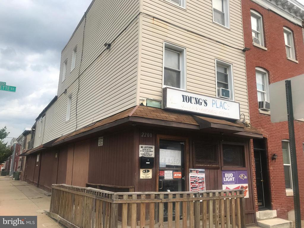 Great Opportunity near Johns Hopkins Hospital. First floor can continue to be used as non-conforming tavern and 2nd and 3rd floors is a large apartment.  Can be turned into 2 separate residential units. Two units already separately metered.
