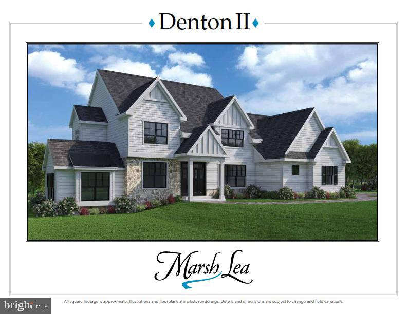 LAST  REMAINING OPPORTUNITY at Marsh Lea! The foundation is in showcasing our ever popular Denton II floor plan. This walkout lower level homesite of 1 acre offers seasonal lake views and private wooded greenery! Still time to customize but you better hurry!  (Pictures shown may included builders optional finishes that are not included in the base price.)