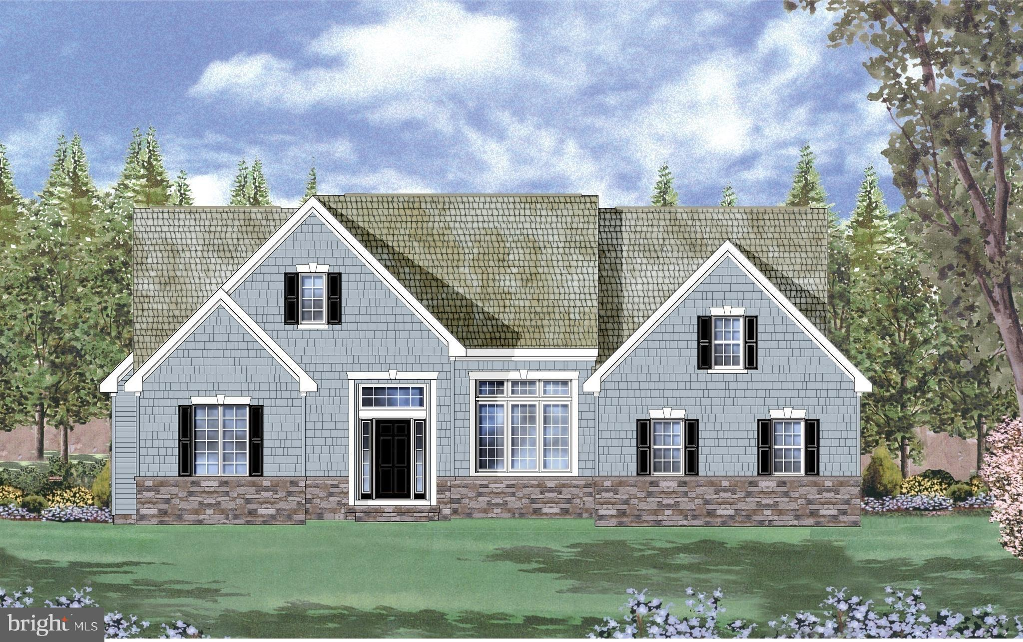 Custom floorplan on homesite #43 with 3 Bedrooms, 2 baths, lark deck and a 3 car garage. *artist renderings shown*