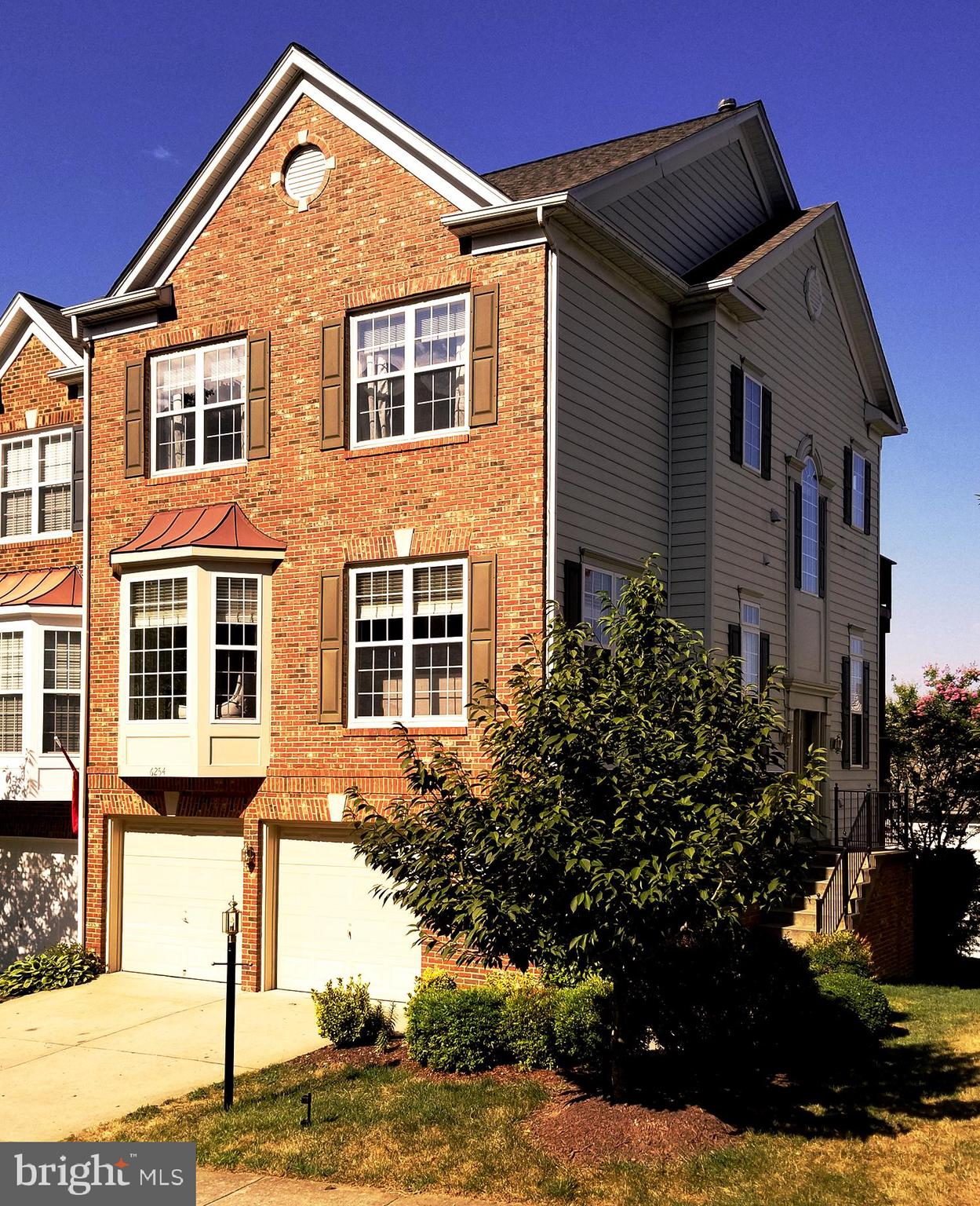 Please enjoy this 4 bedroom, 3 1/2 bathroom, 2620 sq.ft. end unit townhouse for sale in the sought-after Overlook community in Alexandria, Virginia.  The quality and scope of the upgrades throughout this house, both inside and out, present a rarely-found buying opportunity in Overlook for a fully move-in ready home with high-end finishes and features to enhance the new homeowner's use and enjoyment. The upgrades and appointments to this house are present in every room and every view within.  A focus on the details, both big and small, is apparent throughout. An eye-pleasing color palette throughout the house will compliment any design style preferred by the new homeowner. Once inside, the house opens to the Dining Room and Living Room, with a 10 foot ceiling that provides a feeling of both space and light. The open circular candelabra and sconces in the Dining Room create a dramatic focal point for the new homeowner to enjoy every time they walk into their home. The kitchen has a cook's layout that is ready for entertaining, with brushed stainless steel appliances, granite counters, ample prep room, and cherry cabinets. The kitchen peninsula is sized for eating or watching the cook at work, with room for three counter stools. Two walls of windows, including a bay window, provide pleasing natural light for the entire kitchen area. The kitchen faces a seating area with a gas fireplace. The space in front of the bay window is sized to allow a table for informal dining under a polished nickel candelabra. The main living also has French doors leading to a sunroom, which opens to one of the three decks. The sunroom and deck overlook a row of Crepe Myrtle trees in the common area behind the house, which provide three season of color. The main living level also has an office, with a six panel glass door, two walls of windows, and the same high ceiling. A half bath is also located on this level, with an upgraded sink fixture, light, and mirror. The Master Bedroom suite is la