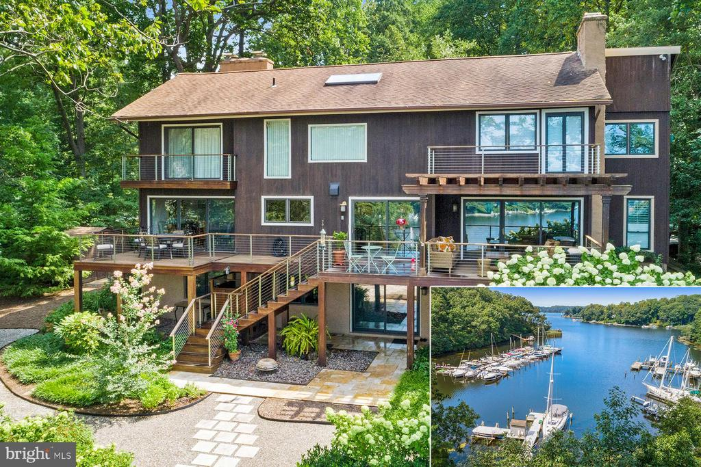 134 Dalkeith Glen, located in the sought-after community of Glen Oban, offers a private deep-water pier on protected Asquith Creek. With views straight out to the Severn River, the home~s outdoor space is perfectly set up to enjoy the waterfront lifestyle. There is a massive pier complex with multiple slips, a boat lift and storage shed, 3 IPE decks, extensive hardscaping, and a large outdoor shower.  This is the perfect combination of a 1.5 acre private setting, super community amenities, blue-ribbon school district, and a move-in condition home. As you step inside the glass-fronted two-story foyer, you notice the dramatic architecture and the natural sunlight that floods the space.  To the right is the formal living and dining spaces that share a gorgeous two-sided, stone-surround gas fireplace. The sliding glass doors in the dining room open to one of the IPE decks that overlooks the water. To the left of the dining room is the gourmet eat-in kitchen that also offers access to the waterside deck. There~s a huge center island, beautiful cabinetry with built-in wine storage, Corian countertops, and updated appliances including a Viking six-burner gas range. The kitchen opens to the family room with wood-burning fireplace, built-in bookshelves, stunning wood floors, and a third access point to the large waterside deck. There is a laundry/mudroom that connects to the oversized two-car garage and a powder room. The formal powder room is located off the foyer. Upstairs, the fabulous master bedroom suite has a private waterside deck, stone-surround wood-burning fireplace, huge walk-in closet, two cedar lined closets, and a luxurious master bathroom.  The bathroom has an oversized jetted tub, a marble-topped vanity with two sinks, linen closet, and ceramic tile shower. There are two additional bedrooms on this level, one with a private waterside deck, that share a hall bathroom.  The finished lower level offers many additional living options including a fourth bedroom with a full bathroom.  There also is a second family room on this level that opens to the waterside patio and provides great access to the outdoor shower. Glen Oban is known for its spacious lots and amazing community amenities. There is a pool, two tennis courts, a playground, and a marina. Schools for this location include: Jones elementary, Severna Park middle, and Severna Park high school. It~s an easy drive into Annapolis and on to DC or head north to Baltimore. LIVE VIDEO tour on-line!