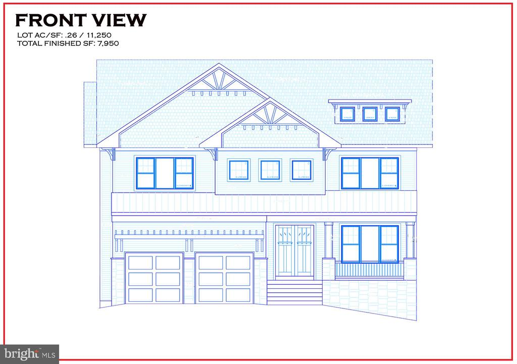 AR Design Group is ready to build on this lot located in DOWNTOWN McLean! This house boasts 5400 sq ft on the main and upper levels with nearly 8000 sq ft of finished space on all 3 levels!