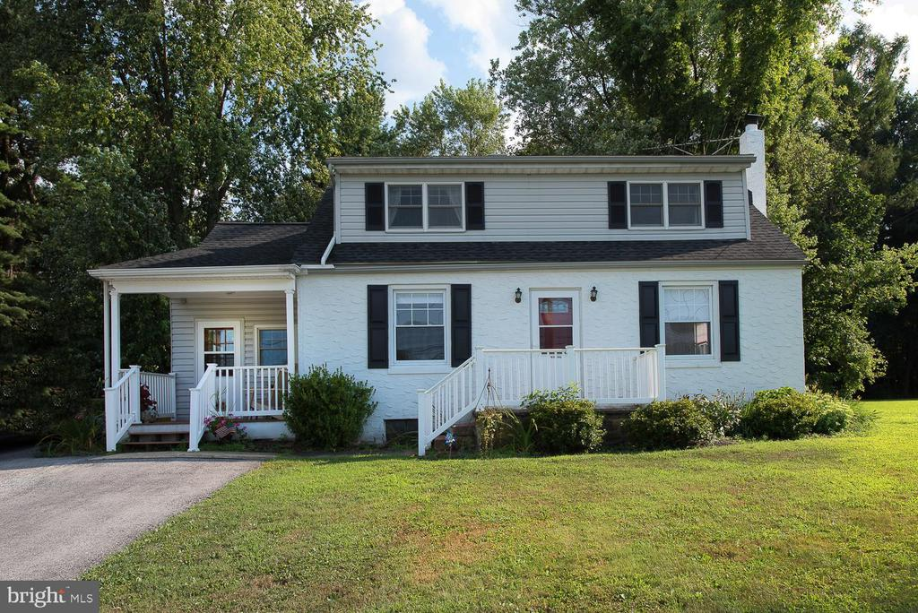 Lovingly maintained Cape Cod in South Coventry township situated across from a horse farm.  First floor has living space that opens to the kitchen, two bedrooms and a full bath.  There is also a newly upgraded mud room area with full size laundry appliances hidden behind double doors.  Don~t forget the newly added additional powder room.  Right around the corner is the cozy kitchen, upgraded in 2014 with granite, tile backsplash and Stainless Appliances including an induction range.  There are tile floors in the kitchen and main bath. No need to bring your window air conditioners since the entire home has central A/C.  The enlarged dormer provides for a spacious 2nd floor with an oversized Master bedroom with great closet space.  There is also a large bath and am additional bedroom on this floor. Don~t forget to notice the gorgeous custom window treatments throughout which are also included in the sale.  This home is in move in condition.  The full heated basement is perfect for storage or it can easily be turned into additional finished space.  Outside you will find nice yard with a paver patio out back and a brand new Stolzfus Structures Shed at the rear of the yard.  Located in a serene peaceful area but has easy access to Philadelphia, KOP and Exton.  First Showings Aug 11th Open house 2-4pm