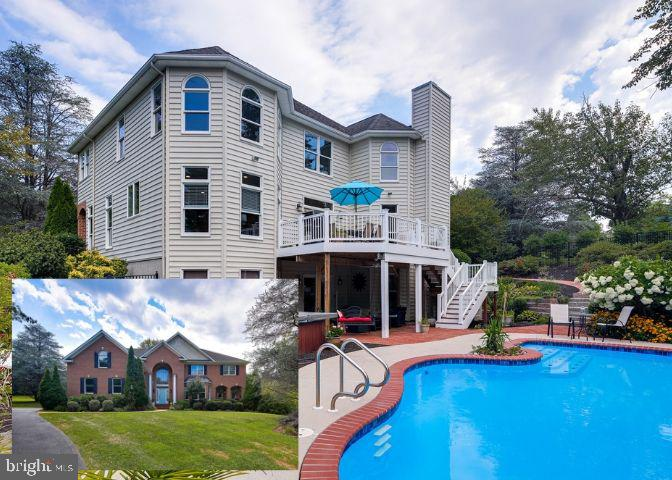 Looking for your own private piece of paradise? Your search is over because this is the place for you! This amazing 5700+ sq.ft. 4 bedroom 3.5 bath home on a 1.3 acre lot has something for everyone inside and out! Located in the coveted Rugby Hall neighborhood with fantastic waterfront amenities available for your enjoyment; but you may never need to leave your own backyard. Beautiful professional landscaping surrounds the custom slide and fenced in-ground pool area to create a feeling of being on vacation right in your own backyard. The inside of this home doesn't disappoint  either. The spacious master suite features a sitting area, spa-like master bath with sep. tub and shower and oversized his/her closet. The soaring 2 story entry and Family Room create a feeling of luxury and that feeling is continued into the gourmet kitchen with large island, and the formal living and dining rooms. The fully finished basement with bar area and fireplace has endless possibilities for entertaining guests. Welcome Home!