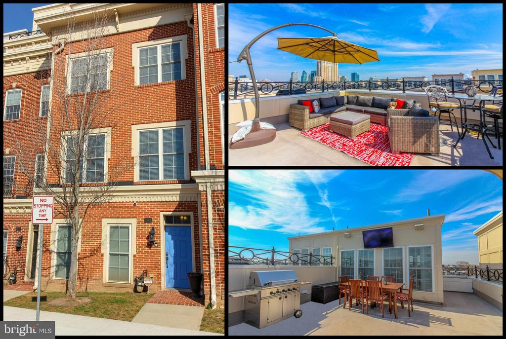 """For Rent or Sale! Can be used as a 3 or 4 bedroom, 3.5 baths & 5 level elevator! Experience Luxury Living w/ 4 levels of living space & 4 car parking! This Absolutely immaculate home is located in the heart of Federal Hill. Enjoy beautiful city & water views from multiple decks including a large rooftop deck perfect for entertaining! State of the Art whole house """"Control4"""" automation system - AV/Security System with Exterior Cameras (all accessed with phone app). Features include entry level office, wood floors, crown molding, windows flooding home w/ natural light, upper level rec room w/ wet bar & elevator w/ exits on each level. Gourmet kitchen w/ large island, granite, SS Appliances & table space. Master suite w/ walk in closet & recently installed state of art bidet/toilet in master along upgrading lighting/fan. New carpet throughout in 2016. 2 new exterior deck doors. New Paint last fall, New HVAC. Over $100K+ put into this amazing home over the last 2+ years. Don't miss out!"""