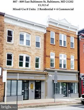 Property for sale at 807-809 E Baltimore St, Baltimore,  Maryland 21202