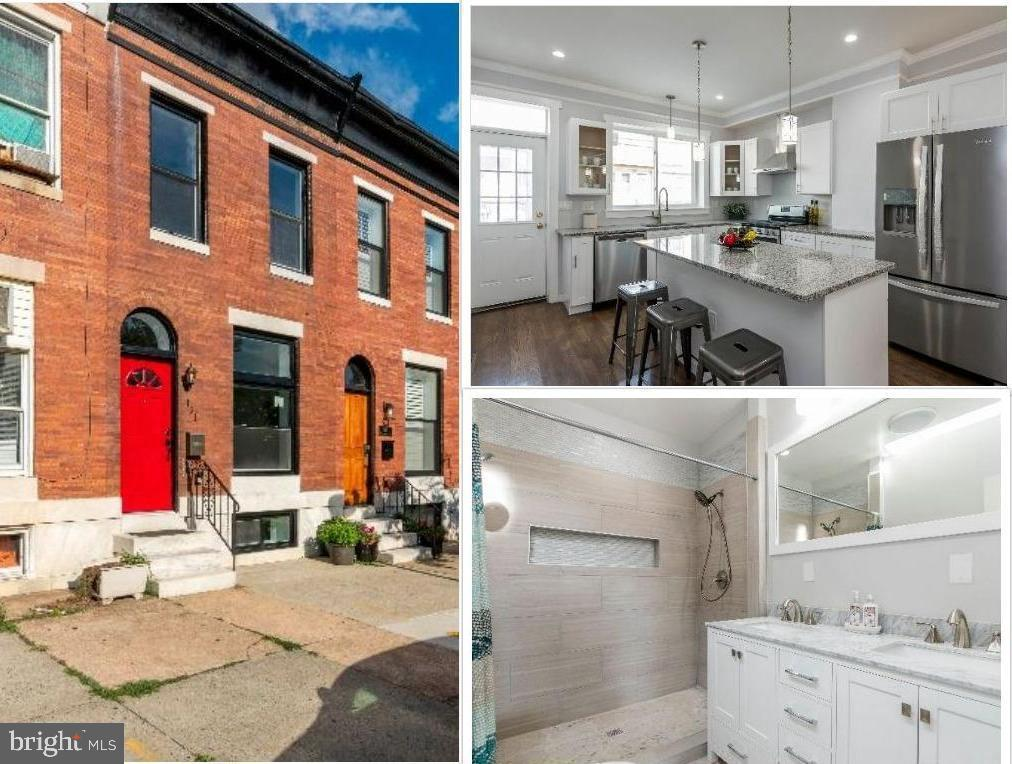 Come live in this beautifully renovated rowhome in Patterson Park!  This 3 BR, 3 Full Bath home features an open main-level floorplan flooded with natural light, all-new hardwood flooring, crown molding, stainless steel appliances, and granite countertops/island.  Top-level features generously sized 2nd BR and full hall bath as well as a huge master suite with double closets and full master bath with double vanity sink.  Basement has rec room/living room space plus large 3rd BR and full bath.  Backyard is completely fenced in for privacy.  Ample street parking & perfect for roommates!  Just minutes away from Johns Hopkins, Patterson Park & all that Baltimore City has to offer.