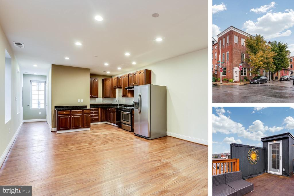 3BR/3BA stylishly renovated apartment located in the heart of Little Italy with stunning city views from the rooftop deck. Enjoy the hardwood floors throughout, exposed brick, update kitchen with stainless steel app & granite countertop & W&D located in unit. Amazing location blocks away from restaurants, bars, waterfront, Whole Foods, Starbucks, 24hr CVS, movie theater & museums.