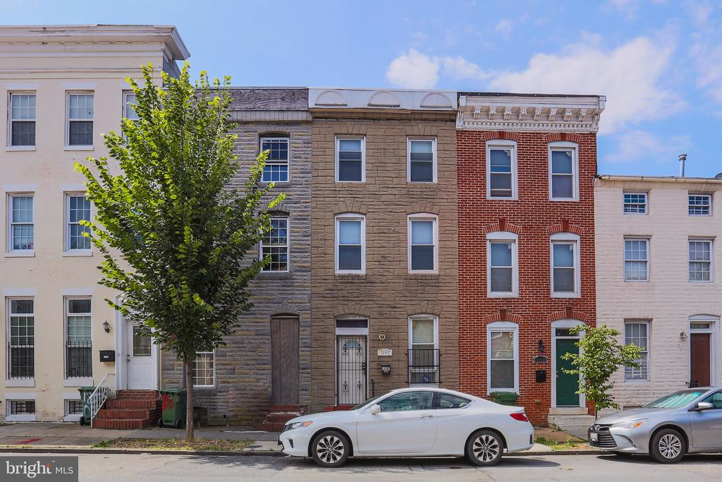 Welcome to 1207 W Lombard St, located in union sq!! Spacious renovated (in 2015) 3BR / 2.5BA with gourmet kitchen, stainless steel appliances, tile back-splash, open concept floor-plan, and exposed brick for extra character. Hardwood flooring throughout home, 3 large spacious bedrooms with plenty of closet and storage space. Entertain in the large finished basement, or on your 2 decks. The first deck is located off of the kitchen and the second large deck is located on the third floor from the master bedroom, with treetop views. Master bedroom also Features whirlpool soaking tub. Home has a fenced in backyard. Do not miss out on this turnkey beautiful home, walking distance to shopping centers, Hollins market and easy access to the Inner Harbor, Fells Point, Federal Hill, and Canton. Close proximity to I-95, I-695. Bring us your best offer!!!