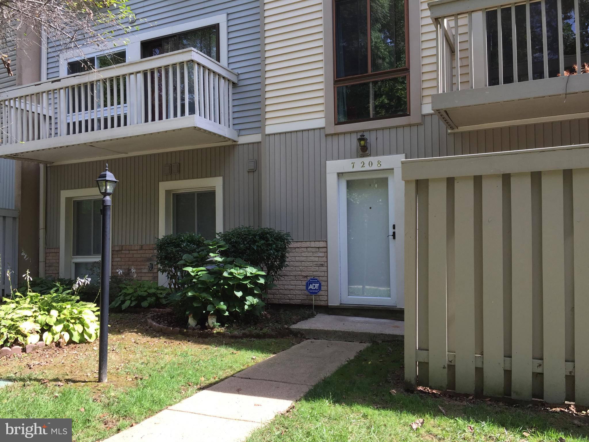 Best Valued Home In Sought After West Springfield Area.  This Two Bedroom Two Bath End Unit Features Its Own Private Entrance, Yard, And Patio, Backing To Wooded Common Area.  New Custom Designed Kitchen With Quality Cabinets And Top Of The Line Stainless Steel Appliances.  Newer Energy Efficient Windows And Carrier HVAC To Save You Money.  Spacious Open Floor Plan With Sunken Living Room And Dining Area Appointed With Quality Hardwood And Ceramic Tile Flooring.  Remodeled Master Bath With Walk In Shower.   Large Utility Room For Washer, Dryer, And Storage.  Very Convenient To Parking And Mailboxes.  This Beautiful Must See Community Offers Large Open Spaces, With Tot Lot, Basketball Court, And Community Deck.  Located Close To Major Shopping, Interstates, Metrorail And Bike Trails. A Must See.