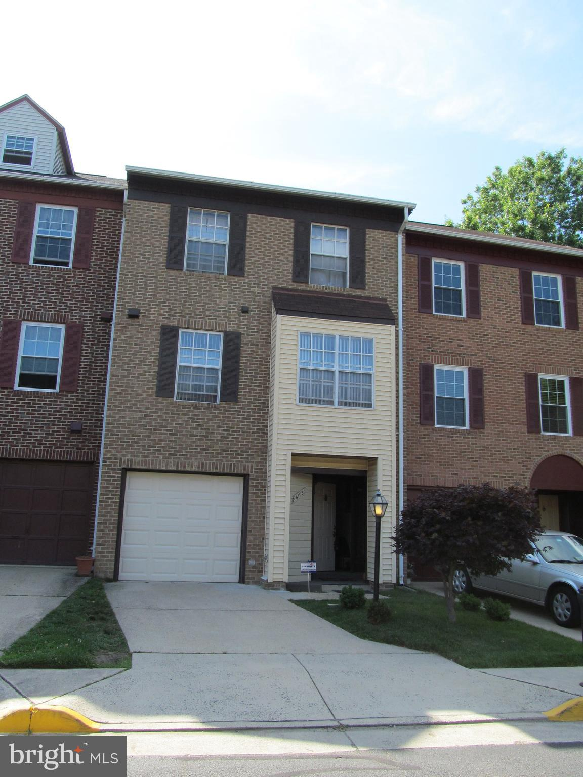 LOOK NO FURTHER !! Lovely townhouse with 1 car garage. Nice fenced in rear yard with deck. Kitchen has stainless steel appliances and wood burning fireplace in the living room. Less than one mile to 495 and Van Dorn Metro!