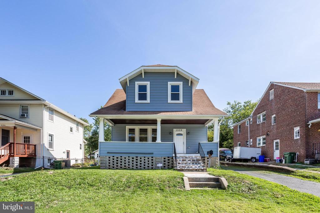 Detached renovated house in the Hamilton Area of Northeast Baltimore City.  Three bedrooms and two full bathrooms.  Granite kitchen tops, hardwood floors in the living and dining rooms. All new appliances. Carport for two cars.  Large backyard.