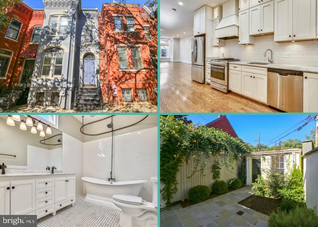 OPEN HOUSE Sunday 9/22 1PM-3PM! Beautiful and spacious Victorian Rowhome in Capitol Hill! This 4 bedroom and 3.5 bathroom home was totally renovated in 2014 and has been lovingly maintained. Featuring an open floor plan with high ceilings, hardwood floors, recessed lighting, custom window treatments, tons of storage, plus a gourmet kitchen with marble countertops, custom cabinetry and subway tile backsplash. The master bedroom has a brand new deck, walk-in closet and a luxurious en suite bath with soaking tub. To ensure peace and quiet, additional insulation has been installed between the bedrooms and the 1st and 2nd floor. The basement is finished with a bedroom, living room, kitchenette and its own separate entrance - perfect for an in-law suite! This home and lot are so unique it's nearly impossible to find this level of upgrades, while still maintaining its stunning period details like the gorgeous woodwork and stained glass windows. Boasting a lovely and private backyard and separate fully covered garage. Located in a highly desirable location just a block from Lincoln Park and moments to Eastern Market, restaurants and Trader Joe's.