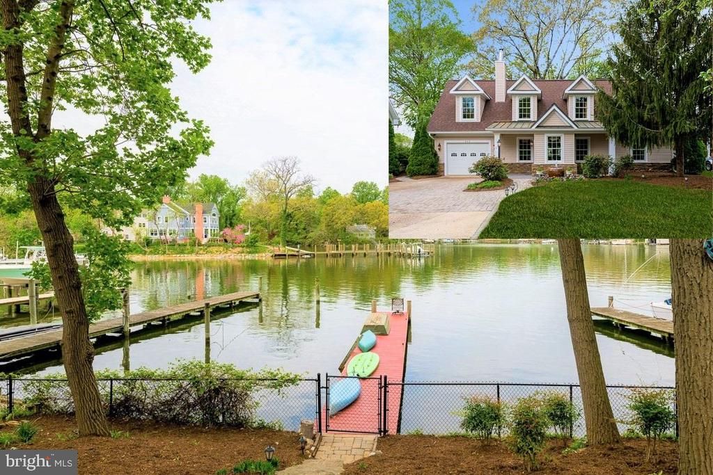 *** GORGEOUS ARNOLD WATERFRONT with PRICE UPDATE: REGIONAL CAPE COD  WATERFRONT LIVING*** Home was beautifully remodeled in 2005 with a focus on modern amenities married with the waterfront feel of Longview. You can see out to the water from nearly every room including when you step into the foyer.  Everything is smartly done from the kitchen pantry to the his and her walk-in closets to the adorable cubbies on the 2nd floor.  Kitchen boasts granite, countertop seating, plus a formal dining room. Bathrooms are all modern and attractive. Enjoy the hard to find 1st floor bedroom and 1st floor full bath. The backyard invites you to enjoy the water from the patios and the hot tub and the pier. Adorable shed just got a new roof. Pier just got painted.  Driveway is generous and smartly designed. You really need to come and see the quality finishing touches; like the solid copper front roof, the fountain, the master bedroom with a wall of waterfront windows, the plethora of closets, the bedroom level laundry, and so much more... there is too much to write so please stop by and see for yourself !! As available FREE 35' PEARSON SAILBOAT!  NOTE: the copper roof over the front porch is not rusted it is patina. HUGE PRICE REDUCTION....SELLERS SAY LET'S GO!!