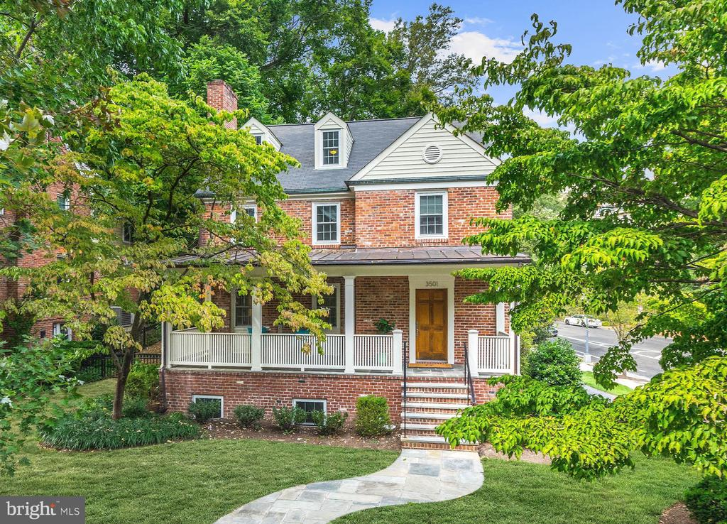 3501 Springland Lane, NW is set in the highly sought-after North Cleveland Park neighborhood of upper Northwest Washington. With its historic charm, vibrant landscaping and beautiful secluded outdoor space, this location seamlessly combines suburban living with the convenience of urban amenities. Less than a mile walk to Van Ness-UDC and Cleveland Park Metro Stations, and surrounded by eclectic shops, restaurants and entertainment this desirable location is close to everything. This beautiful house has been recently renovated and the open floor plan will make you feel at home instantly. Host a dinner party in your large gourmet kitchen and let guests walk out onto the secluded patio through the french doors off the dining room. Upstairs the luxurious master suite was recently renovated and expanded featuring spa-like marble bathroom floors and new closet. Cozy up to the fire with a good book on cool nights or open the brand new windows on spring days, this home has the charm you~ve been looking.