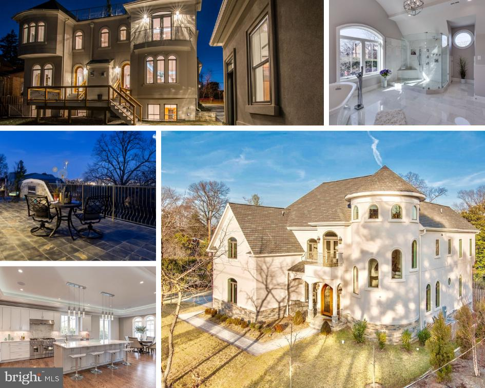 NEWLY PRICED TO SELL! Don't miss your chance...Excitement at first glance, instant gratification follows. Welcome to this custom beauty, named the Constantine, elegantly sited on the last undeveloped lot on historical Arlington Ridge Road. Design that inspires and stirs the imagination - a home of incredible distinction with breathtakingly spectacular views of the Washington Monument, Crystal/Pentagon Cities and the future AMAZON HQ2 CAMPUS at National Landing. Pure elegance abounds this incredible Villa mansion's FOUR inspiring levels connected through an architectural masterpiece circular grand stair case or by a large elevator that soars to the roof... An entertainers dream only seconds from city life, featuring a grand rooftop terrace w/gas fireplace, gourmet kitchen, 2 garages, theater, infrared sauna...and so much more. Certified Green... The Constantine is exceptionally efficient and inspiringly smart. Book your private tour today, because pictures cannot even begin to tell it's story! Incredible investment potential.