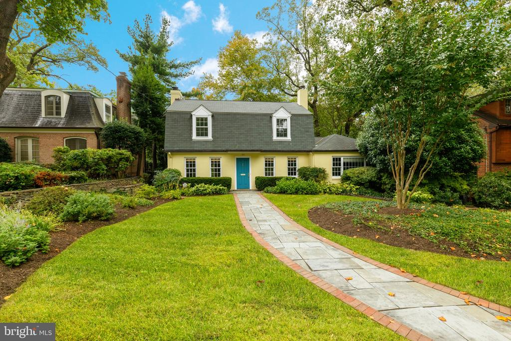 DREAM LOCATION tucked away on private, sylvan N. Cleveland Park cul-de-sac still an easy walk to many schools, multiple metros, shops & restaurants of Cathedral Commons & soon-to-be Wegmans at City Ridge! Enchanting cottage facade on sizable lot reveals a spacious 4,300 SF interior w/ recently & tastefully renovated Kit and baths throughout! Main level features elegant entryway, formal LR & DR, sleek Kit with large adjoining Family rm overlooking large back garden, PR, PLUS additional BR with fireplace, en suite full bath & walk-in closet (could be terrific main level Master BR or library/office!) 3BR and luxe bath upstairs, expansive LL with in-law suite, full bath, PR, tons of storage! Serene & private backyard paradise with elegant landscaping & tranquil leafy views!