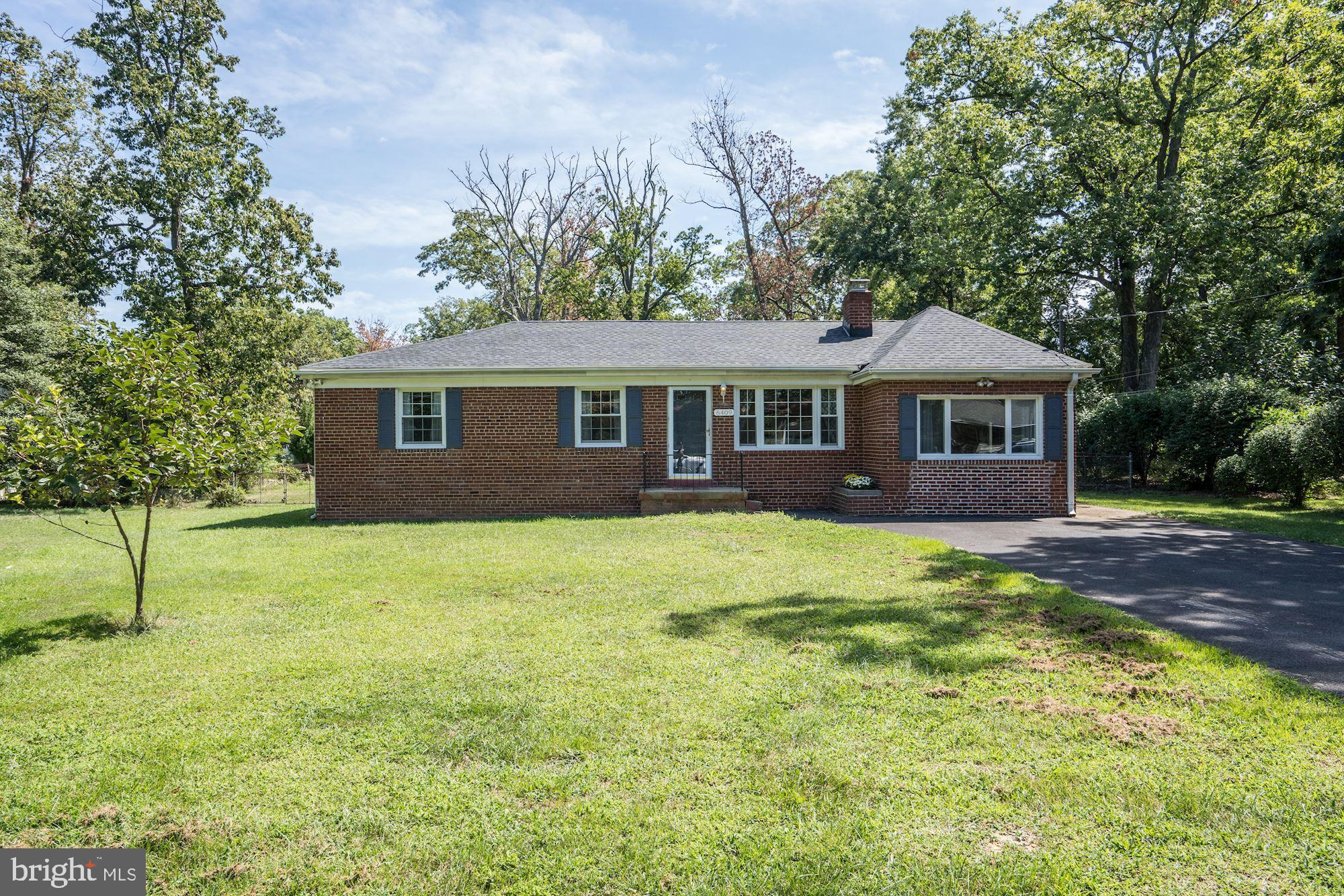 OPEN HOUSE CANCELED - UNDER CONTRACT. Charming 4BR/3BA detached home on HUGE half acre flat lot - no HOA! Beautifully updated throughout with hardwood floors, spacious kitchen, brand new master bathroom (2019), cozy wood-burning fireplace and large recreation room which can be used as an office or fourth bedroom. Open the back door and enjoy peaceful nights in your fully fenced yard or play fetch with your favorite four-legged friend! Upgrades include a recently replaced roof, backyard storage shed, and newly resurfaced driveway which provides plenty of parking. Only one mile to the metro and Springfield Town Center - close to all commuter routes (395, 95 and 495).