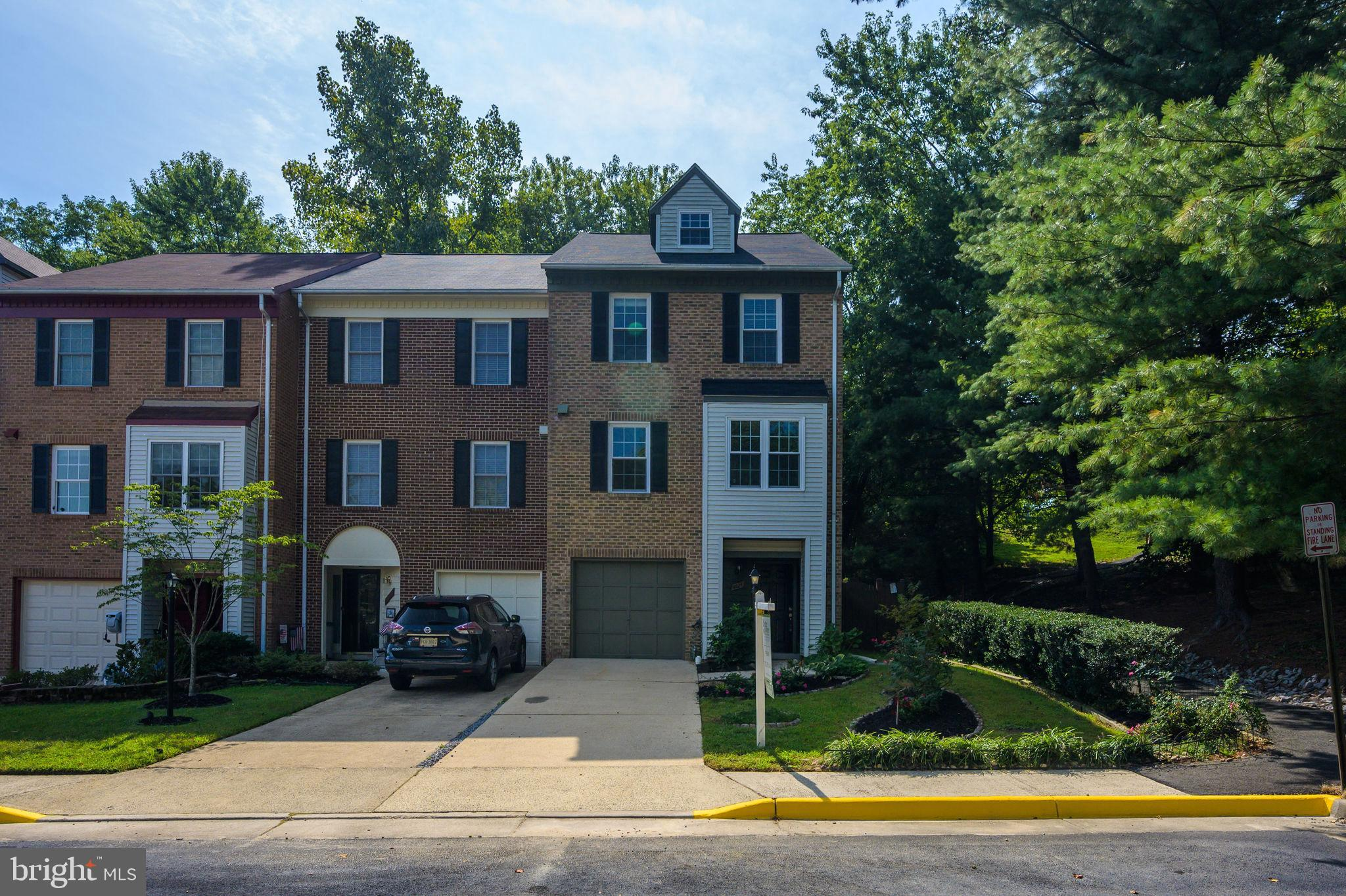 Location, Location, Location! Gorgeous 3 Level, 3 bed, 2 full baths, 2 half baths, 1 car garage, end-unit TH on cul-de-sac with extra side windows providing bright light. 1st level REC room can be used as 4th bedroom, includes a gas fireplace, walk-out to the patio, and a half Bath. 2nd fl main level features gleaming hardwoods in the living and dining rooms. The spacious eat in gourmet kitchen with tile back splash, pantry, stainless steel appliances, table space, and breakfast room. The large deck off the living room overlooks green space. The large Master Suite provides great lighting from the skylights, ensuite with a double vanity & a large loft serving as a private office. Roof has been replaced in 2018, HVAC roughly in 2009, Water heater roughly in 2015. Quick access to everything. Near Van Dorn St, Rte 1,495, Metro, Kingstowne, shops & eateries. Short drive to Pentagon, DC & National Harbor.