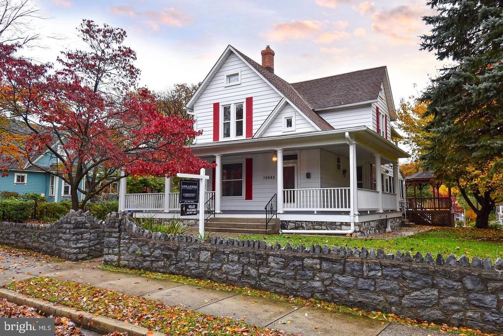 5 minute walk to Marc Train and 2.2 Miles to Forest Glen Metro. Absolutely Charming Historic Home on .28 acres, 5 bedroom, 2 baths in the heart of Kensington!!! Tasteful touches of the past are reflected in this delightful 1893 Victorian home. Wrap around front porch, gazebo, deck, modern baths and gourmet kitchen compliment the unique charm and gentle luxury. It's a must see!!