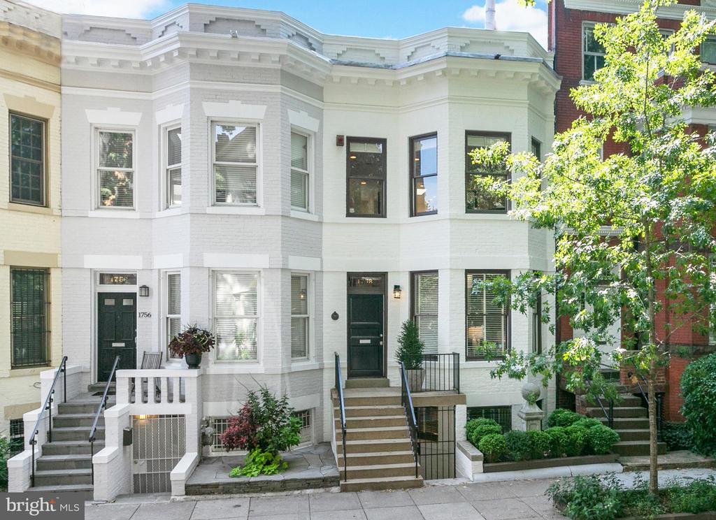 Beautifully renovated and well-maintained rowhouse within close proximity to remarkable restaurants, shops, and the metro. The main level features an open floor plan with spectacular light-filled entertaining spaces, high ceilings, and large windows. There is a stunning living room with a fireplace that opens to the dining room and a well-appointed kitchen with high-end appliances, marble countertops, and exterior access to the rear deck. There are three bedrooms, including a large light-filled master suite, all of which have en-suite bathrooms with Waterworks fixtures and Ann Sacks tile. Completing this impeccable residence is a study, private south-facing deck, and newly renovated two-car garage.