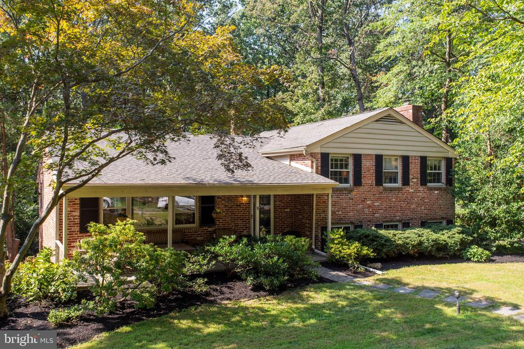 Wonderful Location  near the end of the cul de sac , on just under an acre-in Award winning  Tredyffrin-Eastown   School District- New Eagle ELE.  This 4 bedroom, 3 full bath home has been recently updated, including a new roof. The living to dining room wall and the dining room to kitchen were opened up and now include a breakfast bar and French doors to the expansive deck. The deck overlooks the private, mostly fenced backyard. Plenty of room for a pool!Heater and Central Air were installed in 2016. Enter the home through the charming covered front porch to the flagstone foyer or through the 2-car garage and into the combo mudroom/laundry. Living room and dining room, both with just refinished hardwood floors. Spacious kitchen with island cabinets and seating, wine refrigerator, cooktop, double ovens and more. Upstairs are 3 bedrooms, plenty of closet space and master has bathroom. Downstairs is the expansive family room with wood-burning fireplace and the fourth bedroom/princess suite. Other updates include updated electric, recessed lighting and more. Conveniently located to everything in Wayne with easy access to major roads, schools, restaurants and shopping. KOP Mall and Town Cenetr are a short drive away.