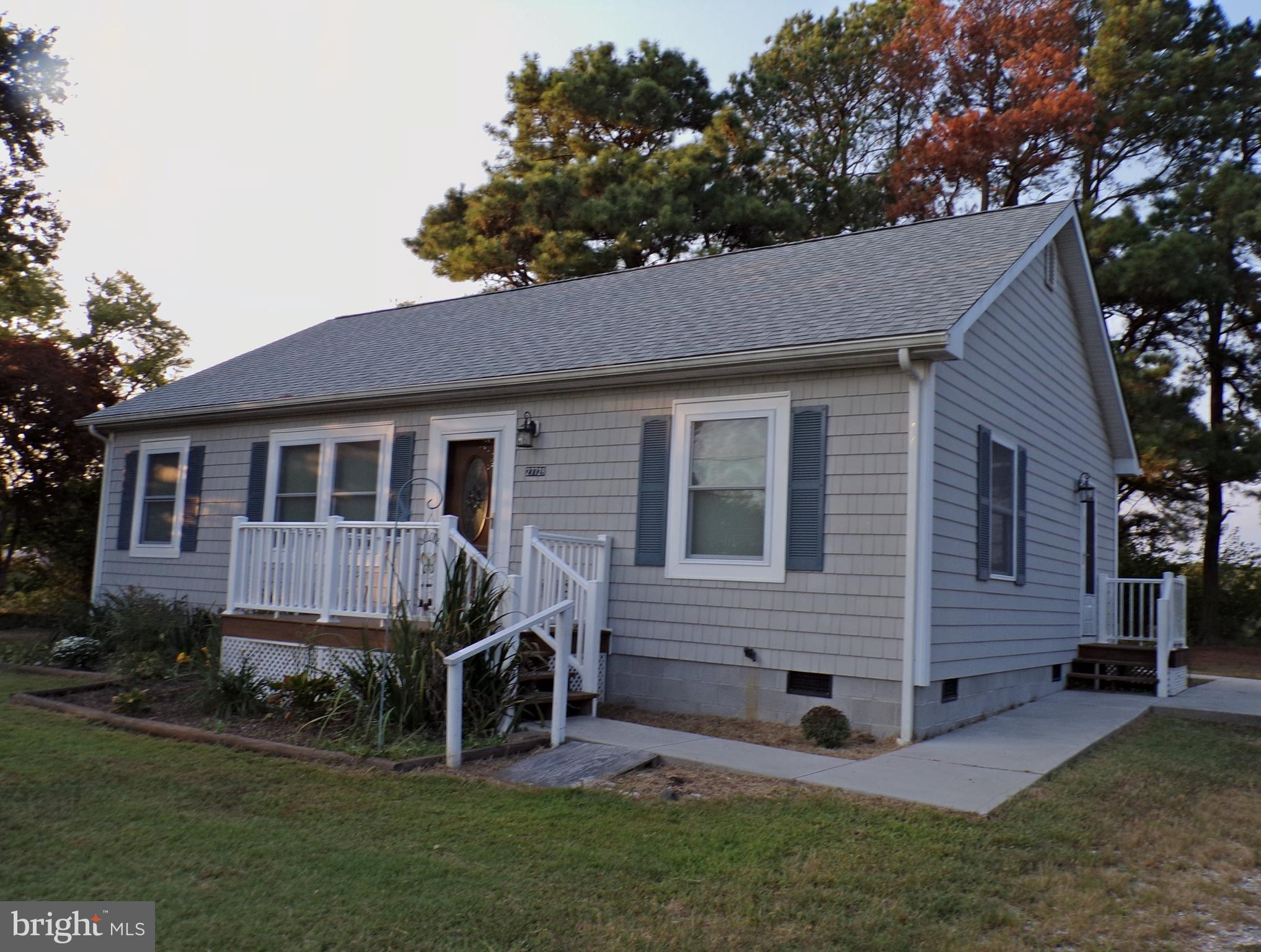 3 years young and gently used country home on 1/2 acre--4 miles to Princess Anne, MD--Seller in            process of moving out -new pics are coming of home all empty, professionally cleaned and ready     for a new family.  Call your Agent today because      this is not going to last long.