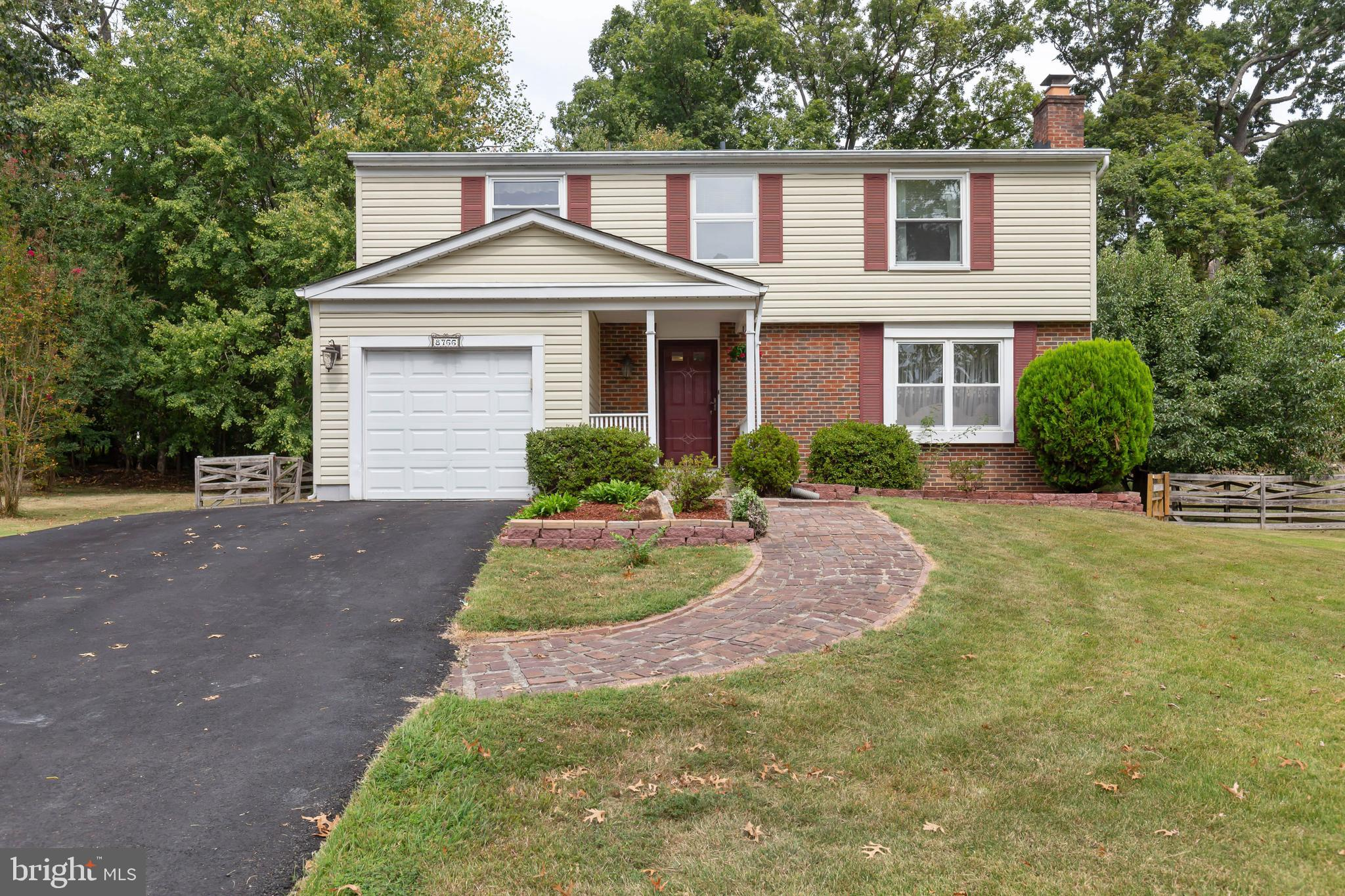 This great 3 level Colonial home features 4 Bedrooms, 3 ~ baths on a cul-de-sac lot backing to woods. This home is in move-in condition and features many improvements such as updated windows, new roof 2017, and new HVAC system 2015. The main level features a living room, dining room and family room with hardwood flooring, and an upgraded kitchen with stainless steel appliances, granite countertops, and a kitchen island. The oversized master bedroom features a walk-in closet, a second closet and a master bath suite. The basement has a 20~ x 14~ Rec. Room, a full bath and an office. Newington Forest offers a convenient commute and a serene place to come home to and relax. More than 50% of Newington Forest land is set aside for common areas. Amenities include a swimming pool, community center, tennis courts, tot lots, basketball courts, ballfield, approximately 2.5 miles of trails connecting to the South Run Stream Valley.
