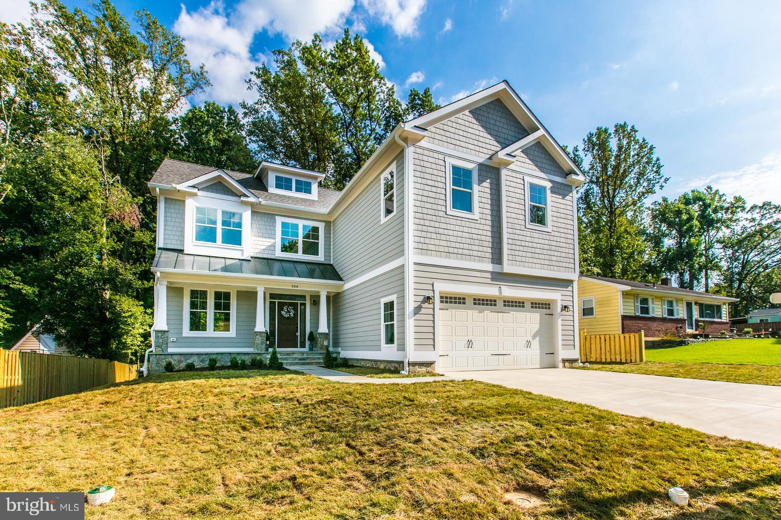 **Immediate Delivery** Welcome home to 106 Tapawingo Rd. SW in the heart of Vienna! This home features 6 bedrooms, 6 full, spa-like full bathrooms and 2 half bathrooms with just under 6,000 sq ft on 4 finished levels. Upper 3 levels have 4-inch red oak floors throughout with high ceilings and oversized custom trim. Main level features formal living room, dining room, family room with gas, stone surround fireplace, powder room, mud room with custom drop zone, home office and gourmet kitchen with KitchenAid appliances and 10-ft quartz waterfall island. Upper level has 4 bedrooms all with ensuite bathrooms, including the master bedroom and secondary master bedroom. Laundry on upper level makes it easily accessible. Attic level features private living suite with multiple closets and cozy reading nook. Lower level has 6th bedroom with ensuite bathroom, powder room, and expansive recreation room with wet bar and walk-up exit. Large, fenced backyard has Trex deck with natural gas hookup for grilling enthusiasts. 2-car garage has 220-volt outlet for electric car charging. Home is heated/cooled by 2 Carrier units controlled by 4 zones. Exterior siding by James Hardie. This is not your average new home, no expense was spared during the design and build process!
