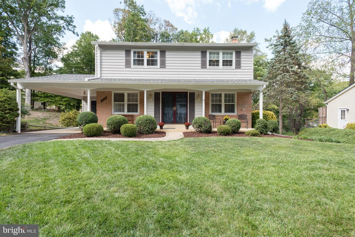 Beautiful single family home located on a cul-de-sac in sought after Orange Hunt Estates! Walk to Orange Hunt Elementary & Playground.  Everything has been done for you. This gorgeous colonial boasts 4 bedrooms, 2 full baths and 1 half bath. The home has been meticulously maintained and is move in ready. Walk up to the home onto a relaxing front porch.  As you enter into the ceramic tiled foyer, enjoy the warm, inviting living room by a wood burning fireplace (with a stainless steel liner.)  Entertain in the separate, formal dining room conveniently located by the updated kitchen (2014) with stainless steel appliances, granite counters, beautiful medallion cabinetry, and ceramic tile backsplash.  If formal dining is not on the schedule for that night then enjoy eating and entertaining on your large deck located through the sliding glass doors right off of the kitchen.  This deck overlooks a stunning, private backyard with your own secluded firepit and brick patio. Finish the day in your spacious master bedroom with a view of the serene backyard through oversized windows and walk-in closet. Your en-suite updated bath has exquisite porcelain tile flooring. Three additional bedrooms on the upper level provide plenty of space for guests and family.  All bedrooms have hardwood floors.  The lower level, renovated in 2018, boasts 2 living areas and provides a generous storage/laundry room, as well as walk-out access to the private backyard. Large storage shed located in backyard. Attic is air sealed and energy efficient. Roof and gutters 2015. Washer/Dryer and hot water heater 2015. This home has great commuter options and is part of the West Springfield school pyramid. No more than 10 minutes drive to 95/395/495, Burke VRE, Pentagon bus, and slug line. Welcome home!