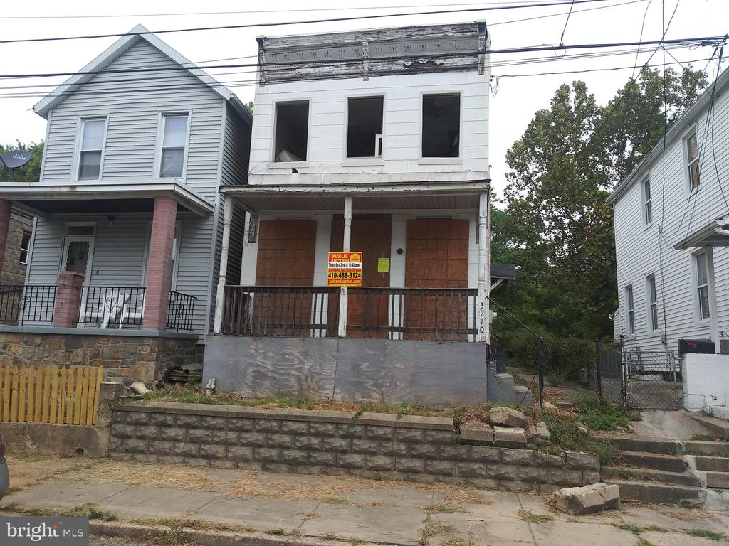 PUBLIC ONSITE AUCTION:  Thurs Oct 3rd, 2019 @11:45 AM. List Price is Suggested Opening Bid 2 Story detached home in Gwynns Falls.10% Buyer's Premium or $1,000, whichever is greater. Deposit $2500.For full Terms and Conditions contact auctioneer~s office.