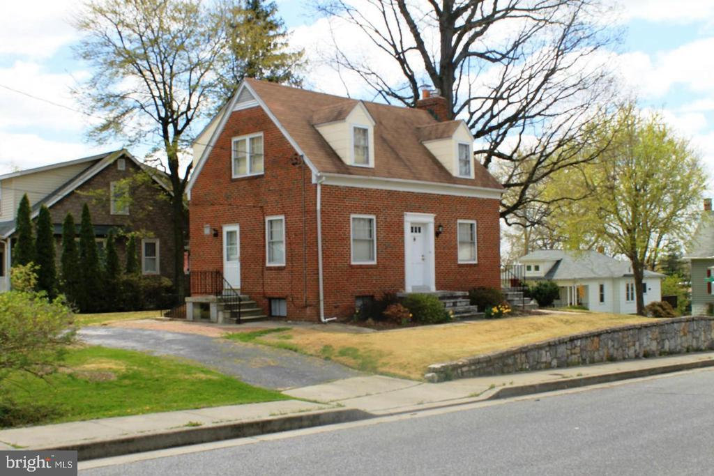 Available immediately.  $35 application fee.  Property is registered with city as rental property.  Well maintained brick Cape Cod. Hardwoods throughout. Wood burning fireplace in living room. Off street parking. Over sized lot.