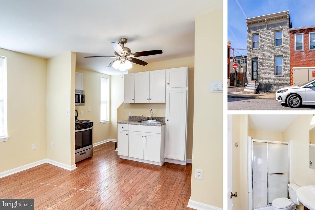 Why Rent When You Can Buy??  This is the perfect opportunity to own a home with a mortgage that is less than most rents!   1BR,  1.5BA end-of-group rowhouse with a finished basement. House gets great light! Large cedar closet in the bedroom.  Plenty of space in the basement for a possible guest room, office, tv room or just storage.  Located in Little Italy you will enjoy the convenience of city living!  Walk to many restaurants, bocce court, CVS, gym, hair salon, and many retail stores.   Roof and HVAC less than 3 years old!  Move-in ready!  Call today for a private showing.