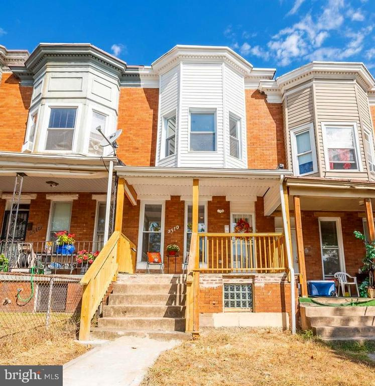 Welcome to your completely renovated new home, nothing to do but move in! Enjoy all the new windows, fixtures, plumbing, electric, roof, flooring, gas heat furnace and central air conditioning. You will see the attention to detail the minute you walk in and see the sleek new hardwood floors throughout the kitchen, dining room and living room. The all new gourmet kitchen with elegant quartz countertops, stainless steel gas stove, dishwasher, upscale refrigerator, built in microwave, tile backsplash and classic white cabinets. Upstairs are two nice size bedrooms plus a luminous master with a large bay window and spacious closet. Also upstairs is a sparkling new full bath with custom tile. Basement is fully finished with rear exit, bonus room, storage and new custom tile full bath. Enjoy relaxing after a long day on the covered front or rear porches with new decking, plus a backyard with a private parking pad.