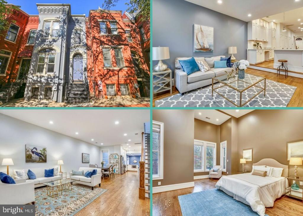 Open House Saturday 10/19 12-2pm and Sunday 10/20 1-3pm!  Beautiful and spacious Victorian Rowhome in Capitol Hill! This 4 bedroom and 3.5 bathroom home was totally renovated in 2014 and has been lovingly maintained. Featuring an open floor plan with high ceilings, hardwood floors, recessed lighting, custom window treatments, tons of storage, plus a gourmet kitchen with marble countertops, custom cabinetry and subway tile backsplash. The master bedroom has a brand new deck, walk-in closet and a luxurious en suite bath with soaking tub. To ensure peace and quiet, additional insulation has been installed between the bedrooms and the 1st and 2nd floor. The basement is finished with a bedroom, living room, kitchenette and its own separate entrance - perfect for an in-law suite! This home and lot are so unique it's nearly impossible to find this level of upgrades, while still maintaining its stunning period details like the gorgeous woodwork and stained glass windows. Boasting a lovely and private backyard and separate fully covered garage. Located in a highly desirable location just a block from Lincoln Park and moments to Eastern Market, restaurants and Trader Joe's.