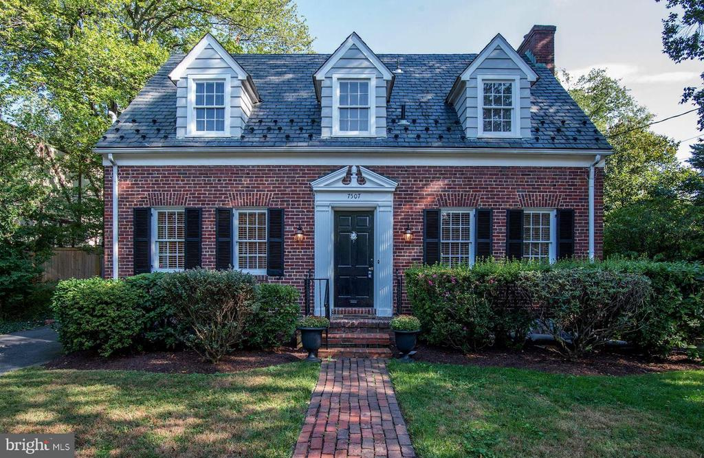 All the old-world charm of a 1936 Cape Cod blended with modern day amenities! Renovated kitchen, updated bathrooms and main level bedroom with en-suite bath . Traditional living room with wood burning fireplace, built-ins and french doors leading to the serene screened in porch. Hardwood floors throughout! Finished basement boasts a family room, bedroom and full bath. Large, fenced yard perfect for entertaining, or enlarging! 1.5 miles to Bethesda Metro.  Stroll to local shops and dining!