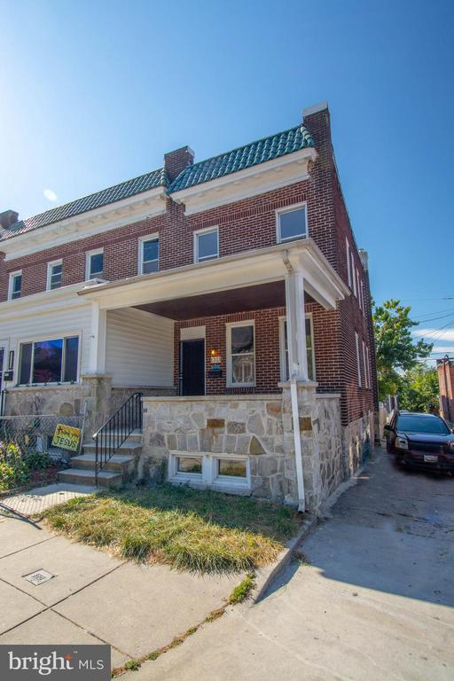 Schools across the street, Renovated Waverly 5BR/2BA End of Group, CAC,wood floors, carpeting, huge kitchen, granite, stainless appliances, rear terrace, fenced yard, front porch, fully finished walk out basement with 2 bedrooms and full back, alley parking.