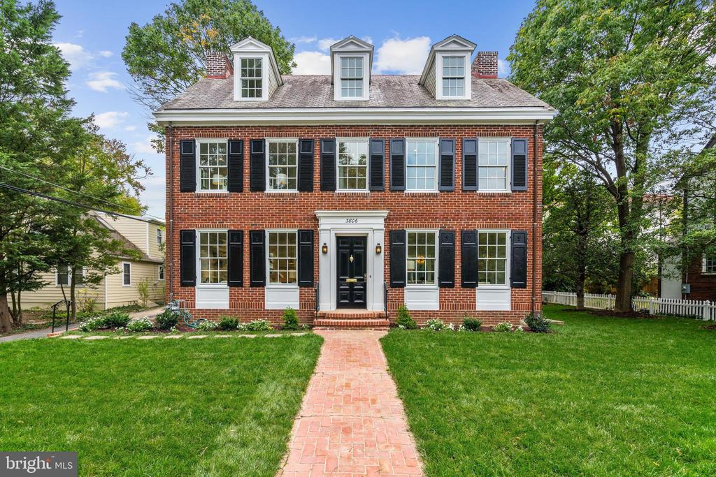 NEW PRICE! Stately 5BR/3.5BA center hall Colonial in Chevy Chase's coveted Section 3! Singular top-to-bottom renovation features ideal floorplan, gourmet Kitchen  with Island open to Family Room; lovely Owners Suite w/ Walk-In Closet, two Fireplaces, formal LR/DR, exceptional closets, high efficiency zoned HVAC, 9ft+ ceiling heights, extraordinary natural light, Pella Windows,  white oak and pine hardwood floors, and custom molding. Fully finished LL w/ mudroom nook, laundry, expansive Recreation/Bonus Room. Enjoy unmatched street presence, idyllic setting on level lot w/ private terrace and plenty of greenspace. Driveway and 1-car Garage offer parking and additional storage opportunities. Nearby downtown Bethesda and more.