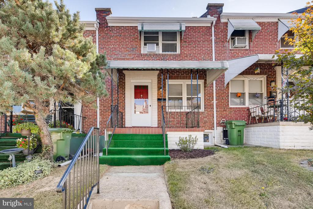 Home has been updated with gleaming hardwood, Partially finished basement, clubroom & laundry area in basement, Has Fenced rear yard & Covered Front Porch, Quiet Neighborhood, A great starter home.