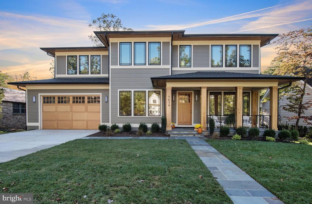OH SUN 11/24 from 2-4!  Stunning new 6BR/5.5BA Prairie style home (nearly 6,000 fin. sq. ft) built by The Kelly Co. on a gorgeous, level lot on one of the prettiest streets w/in walking distance of downtown Bethesda.  Features a fabulous open and airy floor plan while maintaining the elegance of a truly extraordinary property. 10 ft. ceilings on main level;  Elevator ready (installation an option).  The gourmet Kitchen, Breakfast Room and Family Room flow together in a seamless expanse of remarkable living space opening to the back porch and deck overlooking the rear yard, while the Living Area/Office, formal Dining Room and Butler's Pantry provide practical living and exquisite entertaining areas.  The Upper Level offers a magnificent Owners' Suite w/sumptuous marble bath and his & her walk in closets and four additional generously sized Bedrooms and three Full Baths. The thoughtfully finished walkout Lower Level offers a large Rec Room, an Exercise Room, an In-law/Guest Suite, a separate Game Room and abundant storage space.                                                                                            The exterior living and entertaining areas include a  Deck & Covered Porch off the Breakfast Room and Family Room and a private, professionally landscaped rear yard (room for a pool - ask agent for additional info). Attached 2-car garage on grade with main level.  Walk to METRO, downtown Bethesda, Suburban Hospital, Walter Reed NMMC, NIH and the new Marriott International Bethesda Headquarters. Nationally acclaimed WHITMAN H.S. Cluster.