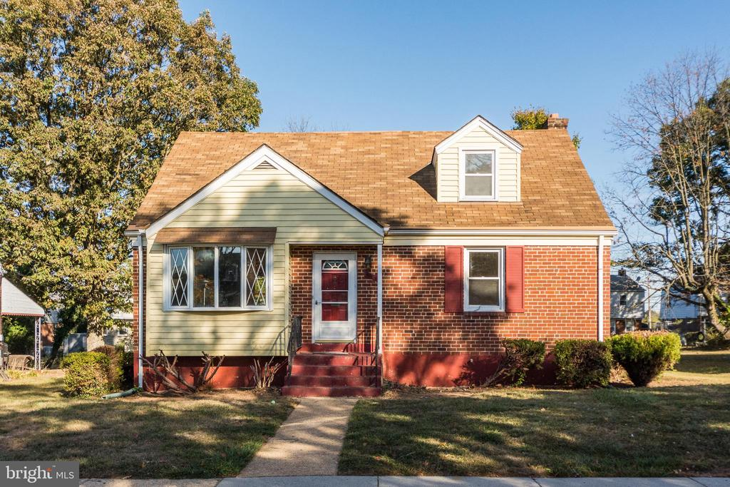 Adorable Brick Cape Cod with 4 bedrooms and 2 full baths. Home features beautiful hardwood floors in living room and dining room, new carpet in upper level bedrooms and covered back patio area.