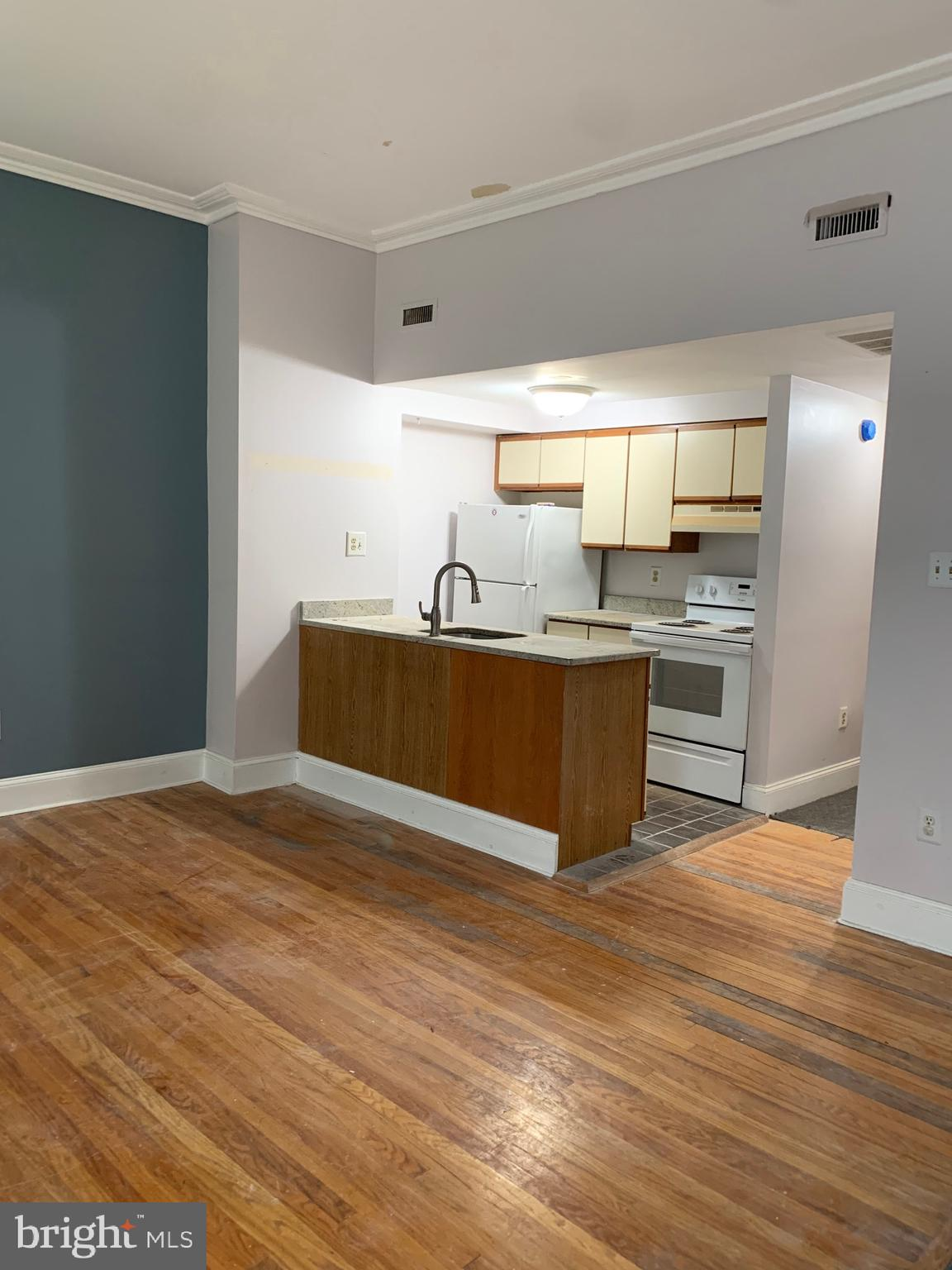 This light filled apartment boasts high ceilings, great natural sun light, open kitchen with brand new GRANITE counter tops, 2 well proportioned bedrooms, and BRAND NEW MARBLE and TILE  bath. Beautiful hardwood floors, central air, washer/dryer in unit. This awesome entire second floor residence is just minutes from Whole Foods Market, Target, Kelly Drive and  The ART MUSEUM!