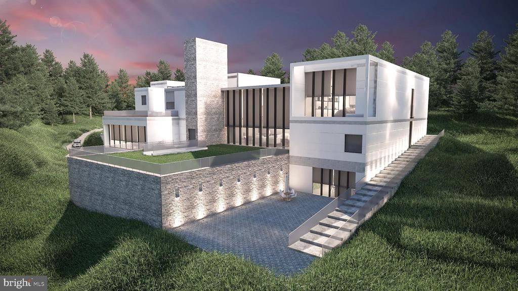 Occupying an exceptional location along Mclean~s ~Gold Coast~ only one stoplight to Washington, D.C., this spectacular 17,800 square foot custom-designed contemporary home offers 6 bedrooms and 6 full baths. The dwelling includes multiple interior and exterior levels purposefully fashioned for optimal wellness and comfort, to include a zen garden and an 18x34-foot swimming pool. The home is perfectly sited on its 1.5 acres for privacy as well, bordering parklands on two sides for the added enjoyment of woodland views and acres of nature~s beauty.  The interior design is an Art collector~s dream with soaring ceilings and expansive gallery wall space bathed in natural light. Some of the planned interior amenities include a two-story reception foyer, home theater, bar and wine center, fitness room, sauna and Jacuzzi spa, balconies off every bedroom on the upper level, including a balcony off the master bath, a handsome multi-level library/office suite, a main level guest room with its own outside entrance, a laundry room on the upper level and an elevator to all living area levels.  The front entrance motor court includes a 4-car garage, convenient for day-to-day activities.  Additionally, the 1500 square foot underground garage can accommodate 11 additional cars for avid automobile collectors as well. From the garage, a second elevator to the main level adds convenience. The home is ~to be built,~ so the site plan, design and details can be customized to the buyer~s specific requirements before construction. The property includes options for entrance security, Gate House or an auxiliary structure.