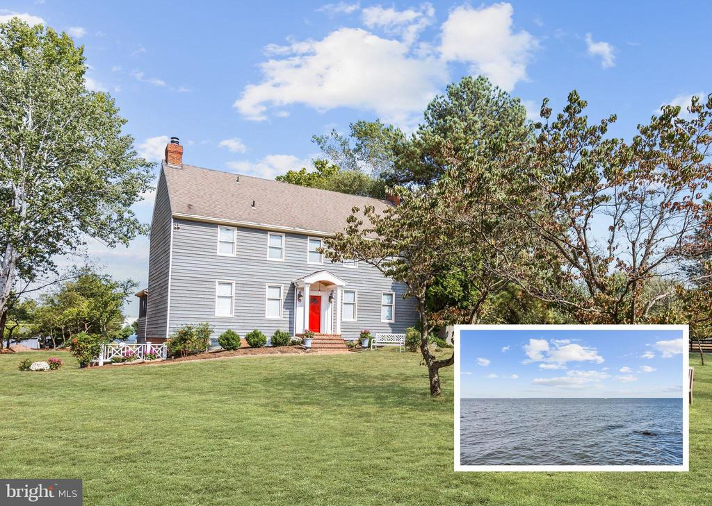 Incredible colonial with water views of the Chesapeake Bay from every level situated in serenity on nearly an acre of landscaped grounds. A 10-foot deeded easement in the rear yard allows direct access to the Bay.  Enjoy your own private retreat with the screened porch, large deck, fenced side yard, fruit trees, and beautiful sunrises and sunsets. The spacious interiors are accented by hardwood flooring and a fresh neutral color palette throughout. Kitchen offers corian counters, breakfast bar, and a pantry. Three sliding glass doors to the deck from the formal living room, dining room, and family room adjacent to the kitchen. Two wood-burning fireplaces. Expansive finished third floor bonus room with a rough-in and closets. Property Updates: Water heater, heat pump, portico, finished third floor, renovated baths, interior paint, and more! Benefit from being a short distance from Eastport, Downtown Annapolis, South River and water activities at Sandy Point and the Bay Bridge. Close proximity to the Eastern Shore and several marinas. Commuter routes including MD-665, US-50, I-97, and the scenic Cape St. Claire Road offer convenient access US Naval Academy, BWI Airport, and more. Outdoor recreation awaits you at Bay Head Park.